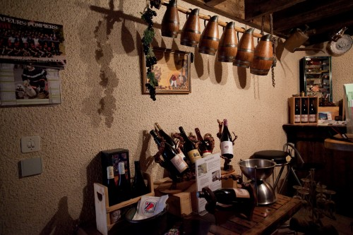 Armand Charvet's Tasting Room - which is the basement (wine cellar) to the owner's house